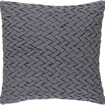 Facade Throw Pillow Gray
