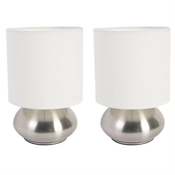 Set of 2 Bedroom Table Lamp Night Light with Touch On Off Sensor