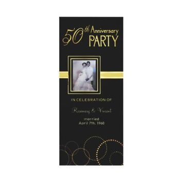 50th Wedding Anniversary Party - Photo Optional Invitation from Zazzle.com