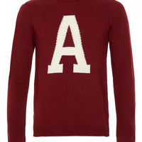 Red Letter 'A' Jumper