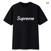 Supreme New fashion bust letter print couple top t-shirt 1#