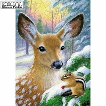 5D Diamond Painting Deer and a Squirrel Kit