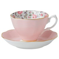 Royal Albert Dinnerware, Rose Confetti Cup and Saucer - Fine China - Dining & Entertaining - Macy's