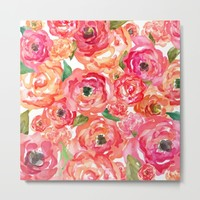 Bed of Roses Metal Print by Allison Reich