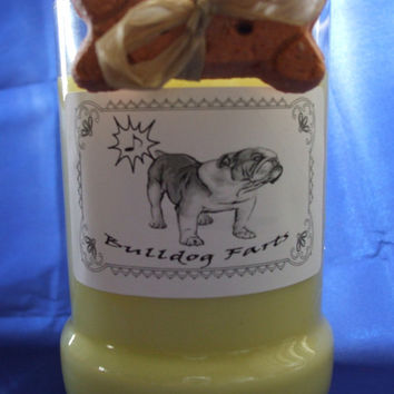 Bulldog Farts Candle in a Recycled Liquor Bottle - 10oz