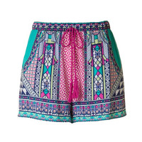 Flying Tomato Mint and Pink Geo Print Shorts
