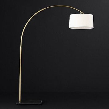 Marble Base Gold ARC Floor Lamp