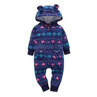 2017 Winter Baby Romper Warm Jumpsuit Infant Baby Boy Girl Pajamas Toddler Clothing Kids Clothes Baby Soft Coveralls