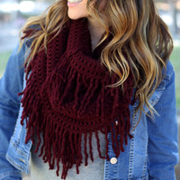 Cozy Up Scarf Maroon