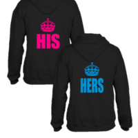 his hers couples hoodie