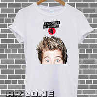 Band Shirt - Luke Hemmings Shirt 5 Second Of Summer T-shirt Printed White Color Unisex Size - AR21
