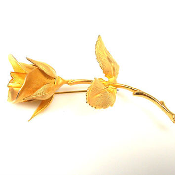 Vintage Giovanni Cerrito Rose Brooch By Longcraft Original Box