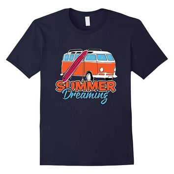 Summer Dreaming - Retro Surfing T-Shirt for Surfers