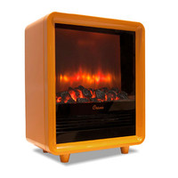 Orange Electric Fireplace Heater - Crane: Design for Better Living