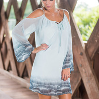 Boho Beach Babe Dress, Aqua