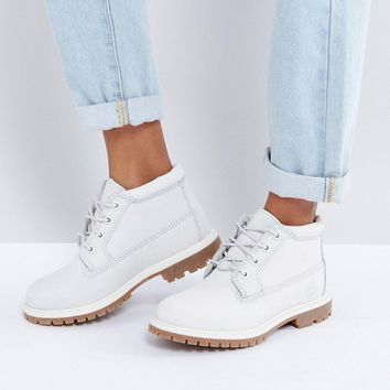 Timberland Nellie Chukka Double Gray Lace Up Flat Boots at asos.com