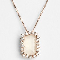 Women's KALAN by Suzanne Kalan Barrel Stone Pendant Necklace - Rose Gold/ White Moonstone