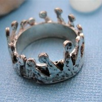 Crown Ring Silver in Sterling Silver