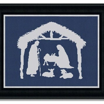 Nativity Scene - PDF Cross Stitch Pattern - INSTANT DOWNLOAD