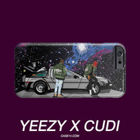Kanye West Kid Cudi Yeezus Tour Back to the Future Illustration IPhone Galaxy Phone Case