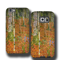 Birch Trees Gustav Klimt iphone SE case iPhone 6s Art lovers case iPhone 6 plus case iPhone 5 cover Samsung Galaxy S6 Edge Galaxy S7 Edge