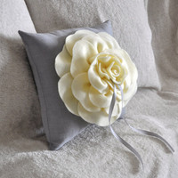 Ring Bearer Pillow Rose Ring Pillow You pick your by bedbuggs