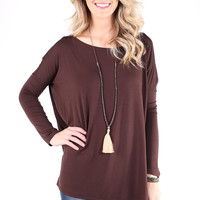 PIKO 1988 Long Sleeve Top - Dark Brown
