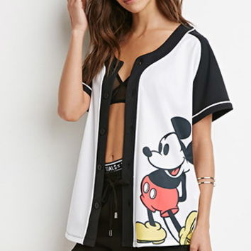 Mickey Graphic Baseball Jersey