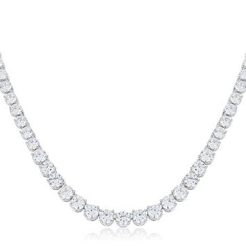 Cloris Graduated Cubic Zirconia Necklace | 50ct | Cubic Zirconia