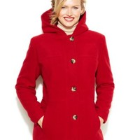 Jason Kole Plus Size Hooded Wool-Blend Coat | macys.com