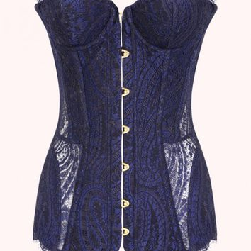 Madison Corset Black and Blue