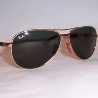 NEW RAYBAN SUNGLASSES 8313M GOLD/GREEN F00871 FERRARI LIMITED EDITION 8313