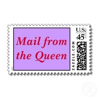 Mail from the Queen Postage Stamp from Zazzle.com