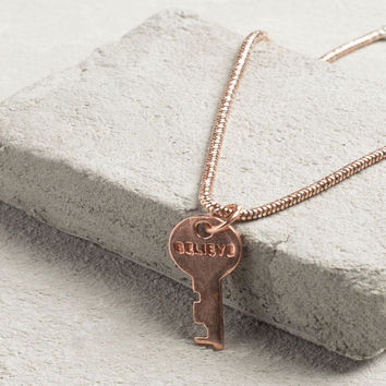 The Giving Keys - Precious Metal Mini Key Bracelet (rose gold)