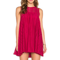 Free People Tu Es La Mini Dress in Ruby Red