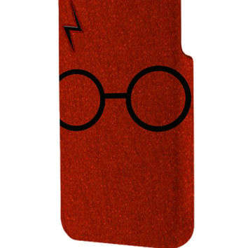 Best 3D Full Wrap Phone Case - Hard (PC) Cover with Harry Potter Glasses and Lightning Bolt Design