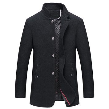 Autumn Casual Stand Collar Jackets Men