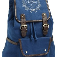 Women's Wildfox Leather Trim Canvas Backpack