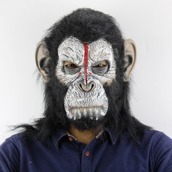 Gorilla Monkey Halloween Masks Adult Full Face Funny Mask Latex Halloween Party Cosplay Costume Masquerade Realistic Masks