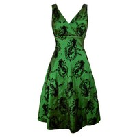 Green Black Elegant Dress
