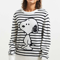Snoopy Striped Sweater | Urban Outfitters