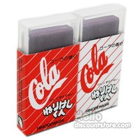 Japanese Food Coke Cola Erasers with Cola Scent : Set of 2 $3.99
