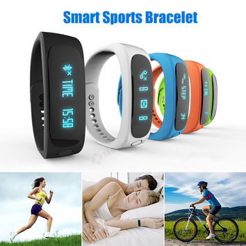 Smart Healthy Sport Bracelet Smartband Wristband fitness tracker Bluetooth 4.0 fitbit flex Watch with Pedometer for Android IOS