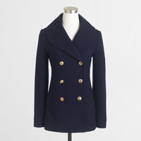 Factory classic peacoat : Outerwear | J.Crew Factory