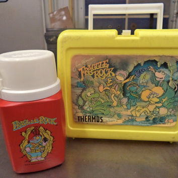 Fraggle Rock - Thermos plastic lunch box - 1987