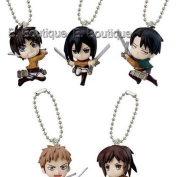 Attack on Titan figure strap x1ONLY Eren Levi Jean Mikasa Sa Shingeki no Kyojin