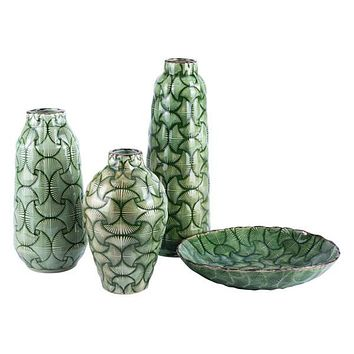 A11433 Ventra Large Vase Green