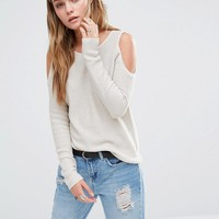 Only | Only Cold Shoulder Knit Sweater at ASOS