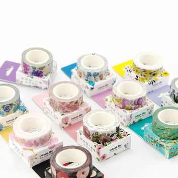 7M DIY Cute Kawaii Flower Washi Tape Lovely Decorative Masking Tape For Home Decoration Scrapbooking Free Shipping 3084