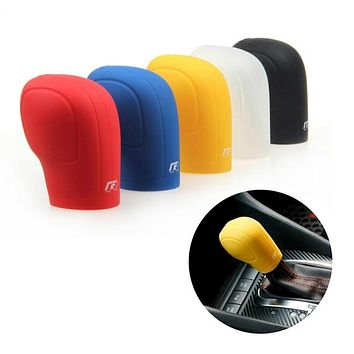 Silicone piece Gear 1 Shift Collars Cover Handbrake Grips For car(random colour)